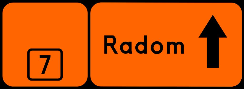 Skaut.pl - Znak szlaku rowerowego - R-4b - zmiana kierunku szlaku