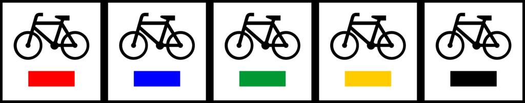 Znaki szlaku rowerowego - kolory