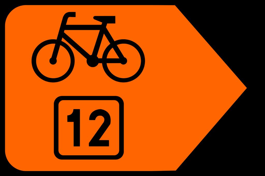 Znak szlaku rowerowego - R-4b - zmiana kierunku szlaku