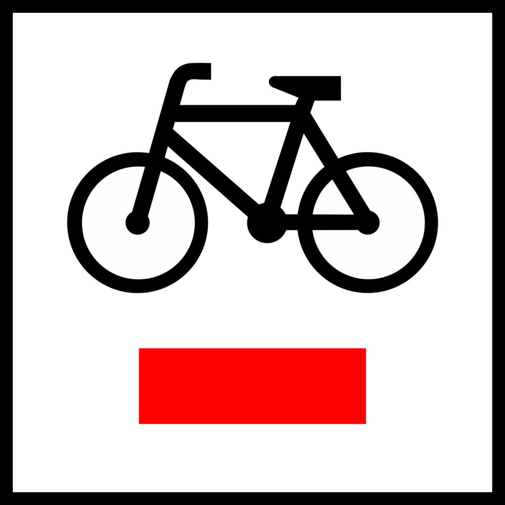 Znak drogowy R-1 - znak krajowego szlaku rowerowego