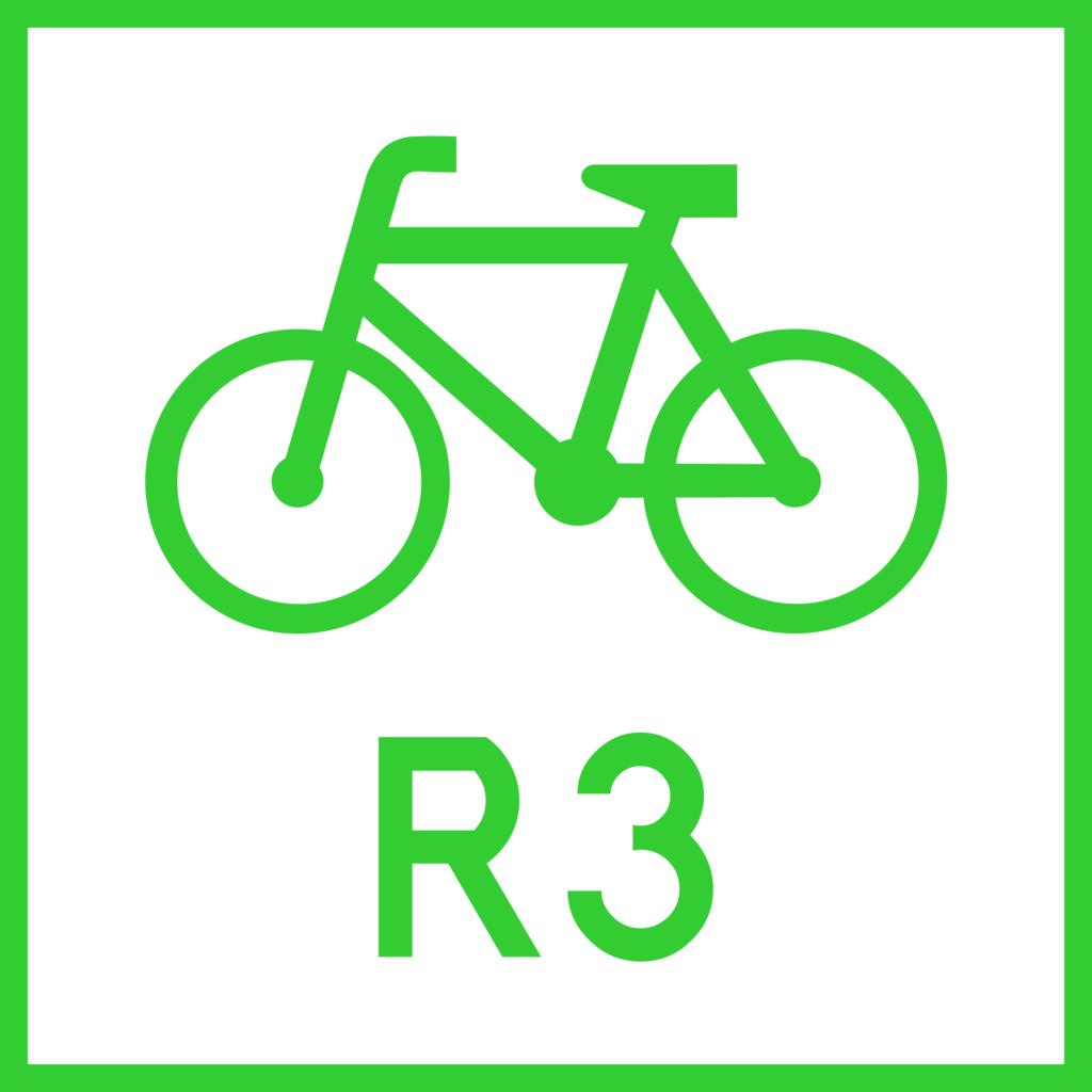 Znak drogowy R-2 - znak szlaku rowerowego międzynarodowego (nieaktualny)