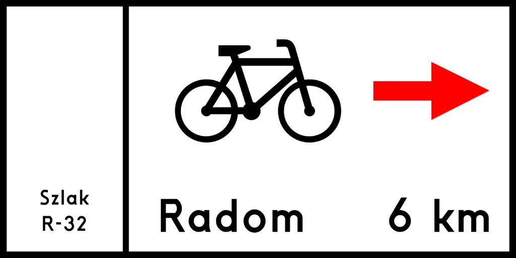 Znaki szlaku rowerowego - Znak drogowy R-3 - tablica szlaku rowerowego