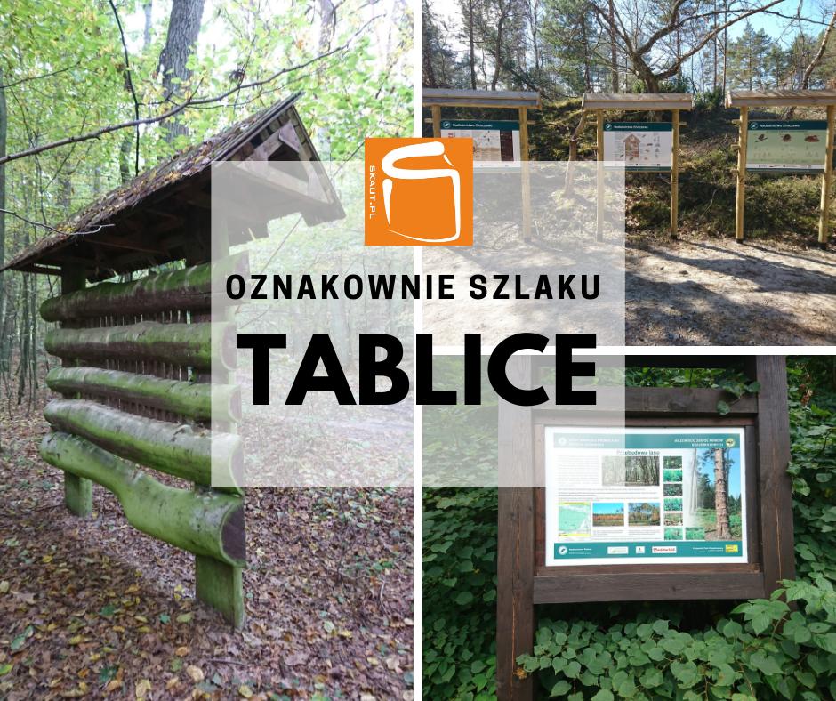 Dostawa i montaż oznakowania szlaku turystycznego - tablice informacyjne